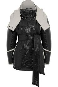 BELSTAFF Bethwin double-breasted faux patent-leath