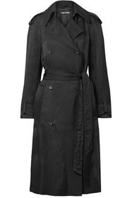 TOM FORD Double-breasted twill trench coat