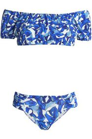 ISOLDA Off-the-shoulder printed bikini