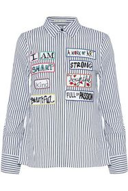 ALICE + OLIVIA Willa appliquéd striped cotton-popl