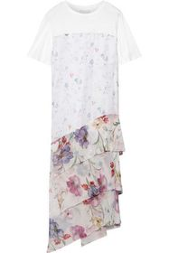 3.1 PHILLIP LIM Cotton-jersey and floral-print cri