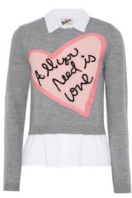 ALICE + OLIVIA Layered cotton-blend poplin and int