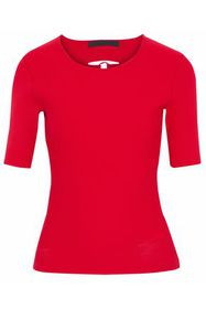 ALEXANDER WANG Lace-up stretch-knit top