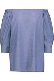 THEORY Joscla off-the-shoulder cotton top