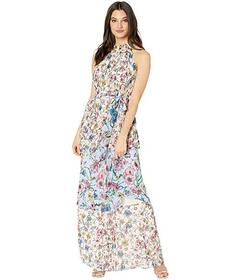 Juicy Couture SW Floral Print Mix Pleated Maxi Dre