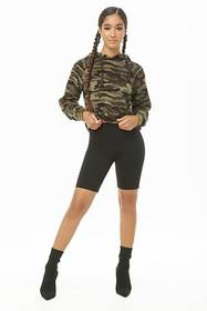 Forever21 Camo Faux Fur Hoodie
