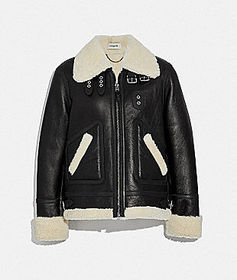 Coach shearling aviator jacket
