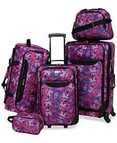 Tag Springfield III Printed 5-Pc. Luggage Set, Cre