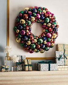 Handmade Sparkling Jewel Tones Christmas Wreath 24