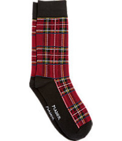 Jos Bank Jos.A.Bank Plaid Socks, One-Pair - King S