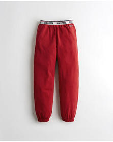 Hollister High-Rise Boyfriend Sweatpants, RED