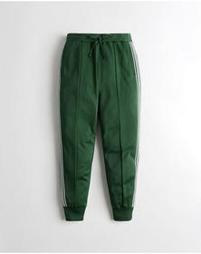 Hollister High-Rise Track Joggers, GREEN