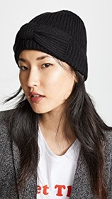 Kate Spade New York Solid Bow Beanie Hat