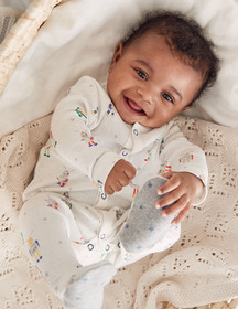 Boden Fun Printed Sleepsuit