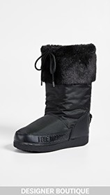 Moschino Love Moschino Snow Boots with Sequin Hear