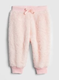 Faux-Fur Pull-On Pants