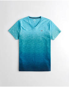 Hollister Must-Have V-Neck T-Shirt, HEATHER TURQUO