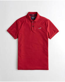 Hollister Stretch Classic Fit Polo, HEATHER RED