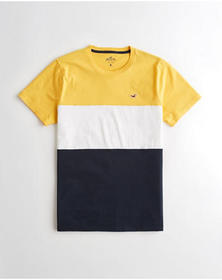 Hollister Must-Have Crewneck T-Shirt, YELLOW WHITE