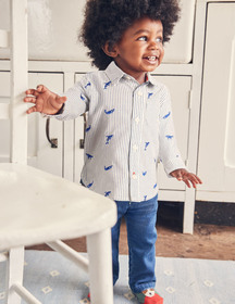 Boden Embroidered Whales Shirt