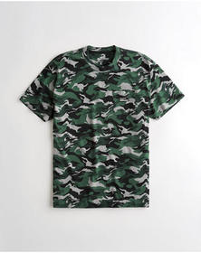 Hollister Oversized Pocket T-Shirt, CAMO
