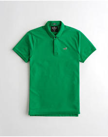 Hollister Stretch Slim Fit Polo, GREEN