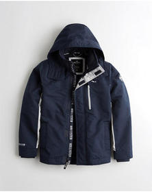 Hollister Fleece-Lined Jacket, NAVY