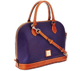 """As Is"" Dooney & Bourke Pebble Leather Zip Zip Sat"