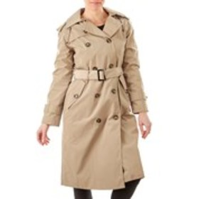 LONDON FOG Petite Double Breasted Belted Trench Co