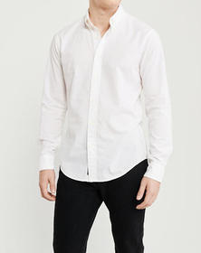 Super Slim Poplin Shirt, WHITE