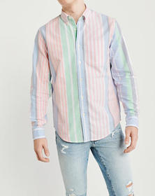 Oxford Shirt, PINK AND BLUE STRIPE