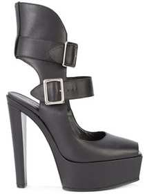 Vera Wang buckled platform pumps