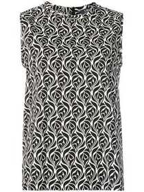'S Max Mara sleeveless patterned blouse