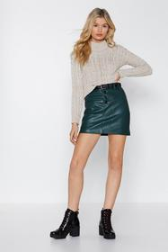 Nasty Gal Pocket This Faux Leather Skirt