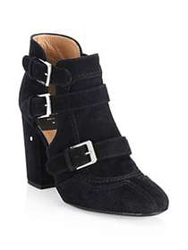 Laurence Dacade Sheena Suede Cutout Booties BLACK
