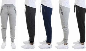 Men's Slim-Fit Joggers With Tech Zipper Pockets (2