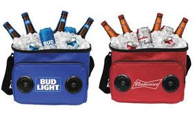 Budweiser & Bud Light Cooler Bag with Wireless Blu