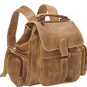 Le Donne Leather Distressed Leather Multi Pocket B