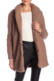 cupcakes and cashmere Antebell Faux Fur Teddy Coat