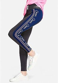 Justice Sport Stripe Lace-Up Leggings