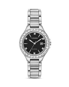 Citizen - Crystal Eco-Drive Silver-Tone Watch, 31m