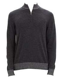 Theory Rothley Merino Wool Zip Castello Sweater ON