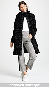 Paskal Faux Fur Coat with Scarf