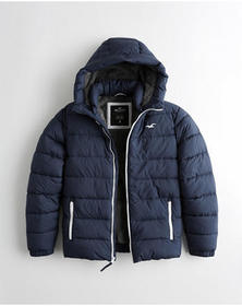 Hollister Recycled Fill Faux-Fur-Lined Hooded Puff