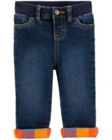 carters Baby Boy Plaid Cuff Jeans