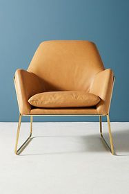 Anthropologie Leather Everley Chair