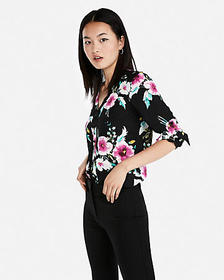 Express floral pattern chelsea popover