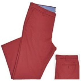 Mens Slim Fit Tapered Red Khaki Pants