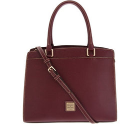 """As Is"" Dooney & Bourke Saffiano Leather Blair Sat"
