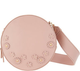 """""""As Is"""" Studio 33 Circle Crossbody Bag with Floral"""
